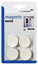 Magneet Legamaster 30mm 850gr wit 4stuks