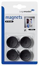 Magneet Legamaster 30mm 850gr zwart 4stuks