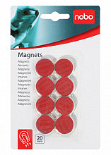 Magneet Nobo 20mm 120gr rood