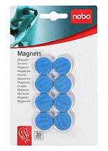 Magneet Nobo 20mm 120gr blauw