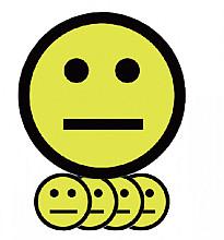 Magneet smiley 75mm emotie neutraal geel