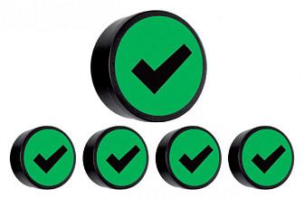 Magneet check 35mm groen