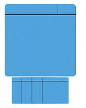 Magneet scrum 75x75mm lichtblauw