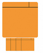 Magneet scrum 75x75mm oranje