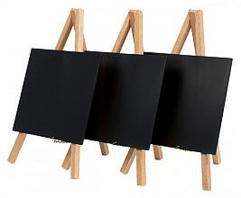 Krijtbord Securit mini 3-poot 24.4x15x13.5cm blank hout