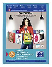 Showalbum Oxford Polyvision A4 20-tassen PP blauw