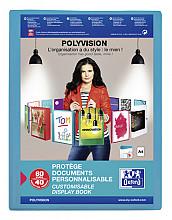 Showalbum Oxford Polyvision A4 40-tassen PP blauw
