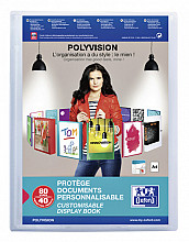 Showalbum Oxford Polyvision A4 40-tassen PP transparant