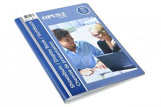 Showmap Opus 2 frontview A4 20-tassen wit