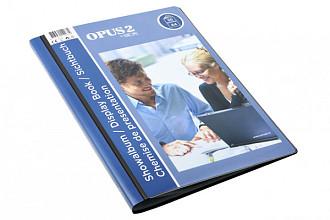 Showmap Opus 2 frontview A4 30-tassen antraciet