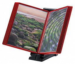 Infomanager Flex-O-Frame basis met 10-tassen antraciet/rood