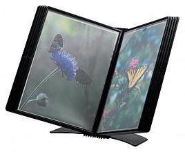 Bureaustandaard Flex-O-Frame met 10-tassen zwart