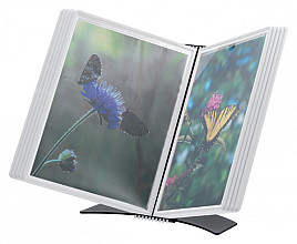 Bureaustandaard Flex-O-Frame met 10-tassen wit