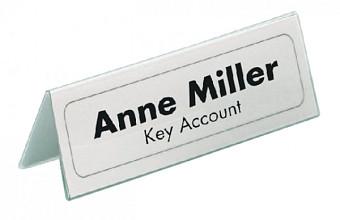 Tafelnaambord Durable 8050 61x150mm transparant