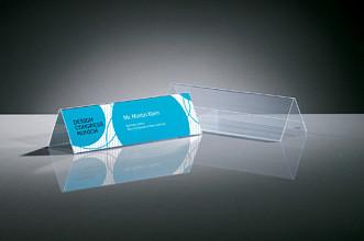 Tafelnaambord Sigel TA132 190x60mm 2-zijdig transparant