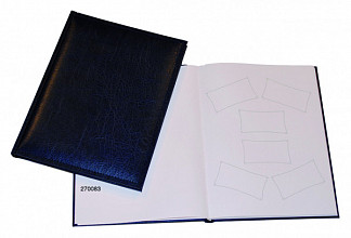 Receptiealbum gestikt 205x260mm blauw
