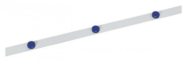 Metaalband MAUL 1mx35mm zelfklevend wit + 3 magneten