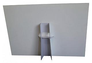 Foamboard steun A3 178X190mm wit