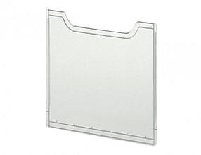 Afdekplaat Exacompta folderhouder A4 staand helderglas