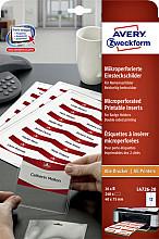 Badgekaart Avery L4726-20 40x75mm microperforatie