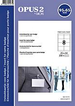 Badgekaart Opus 2 65x95mm 180gr wit