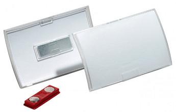 Badge Durable 8212 Click Fold met magneet 40x75mm