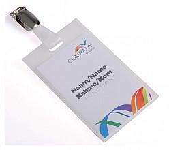 Badge pashouder Opus 2 gesloten clip 90x60mm