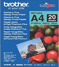 Inkjetpapier Brother Bp-71 A4 glans 260gr 20vel