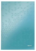 Notitieboek Leitz WOW A4 lijn ijsblauw