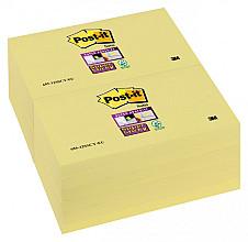 Memoblok 3M Post-it 655 Super Sticky 76x127mm geel