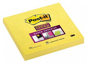 Memoblok 3M Post-it 654 Super Sticky 76x76mm ultra geel