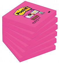 Memoblok 3M Post-it 654 Super Sticky 76x76mm fuchsia