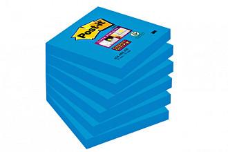Memoblok 3M Post-it 654 Super Sticky 76x76mm blauw