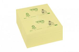 Memoblok 3M Post-it 655 76x127mm recycled geel 100 vel