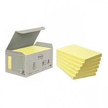 Memoblok 3M Post-it 655 76x127mm recycled geel