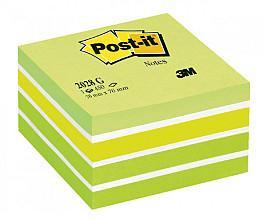 Memoblok 3M Post-it 2028 76x76mm kubus pastel groen