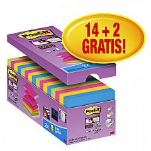 Memoblok 3M Post-it Z-Note S330 Super Sticky 76x76mm 14+2